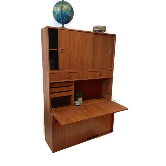 Mid Century Teak Modular Wall Unit Desk or Bar - Image 9 of 9
