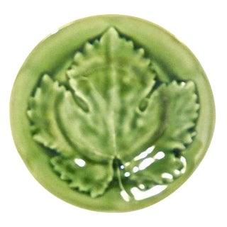 Antique Choisy Le Roi Majolica Maple Leaf Plate