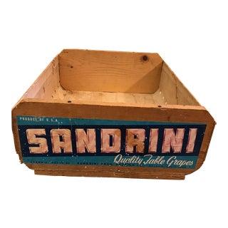 Vintage Sandrini Grape Wooden Crate