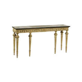 Louis XVI Style Parcel-Gilt Grey Painted Console