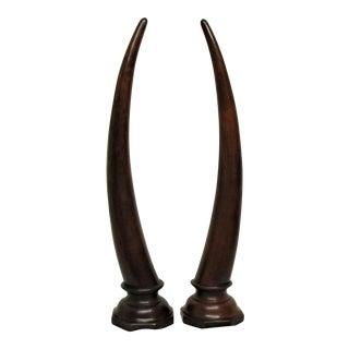 Wooden Horns - A Pair