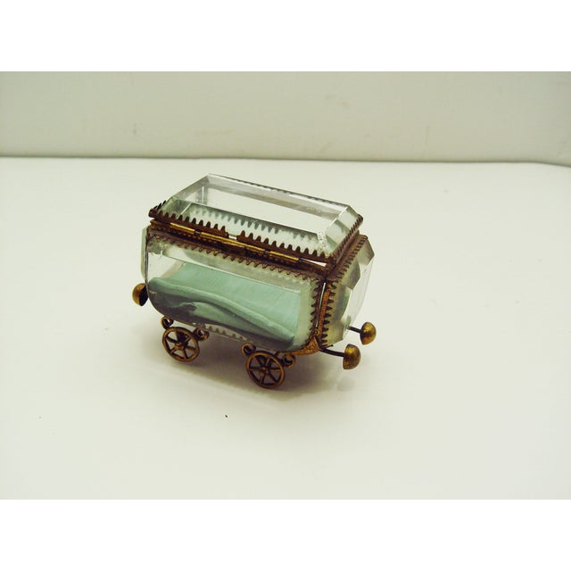 Vintage French Bevel Glass & Ormolu Carriage Box - Image 3 of 5