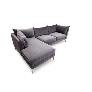 Clad Home Contemporary Velvet Sectional