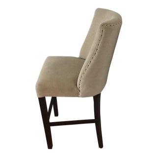 Mid-Century Modern French Barrelback Fabric Barstool