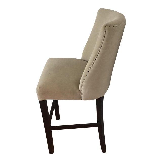 Image of Mid-Century Modern French Barrelback Fabric Barstool