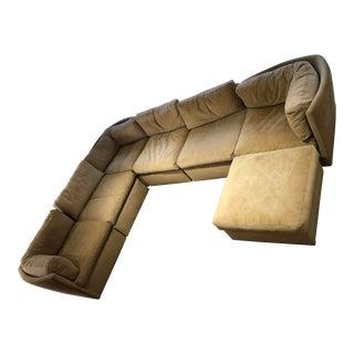 Milo Baughman for Thayer Coggin Scalloped-Back Sectional Sofa