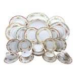 Vintage Mismatched Fine China Dinnerware - 54 Pieces