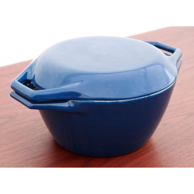 Vintage Blue Michael Lax for Copco Danish Modern Cast Iron Dutch Oven - Image 2 of 8