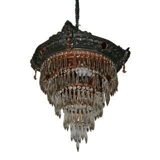 Brass Crystal Vintage Chandelier