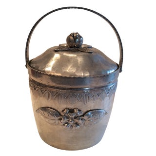 Hammered Floral Ice Bucket