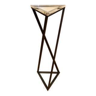Geometric Twisted Pedestal Table