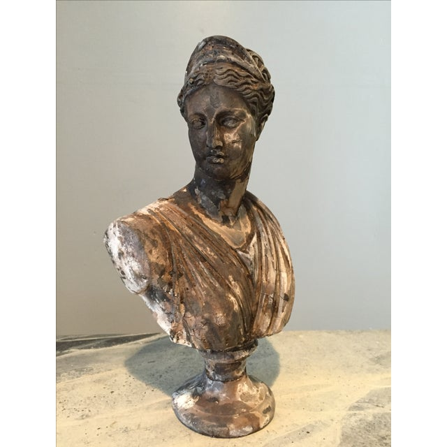 Vintage Classical Concrete Bust - Image 2 of 6