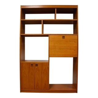 Teak Danish Style Bookcase Desk