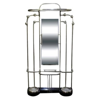 Streamline Art Deco Polished Aluminium Hall Tree