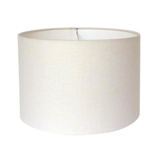 Off-White Linen Custom Drum Lamp Shade