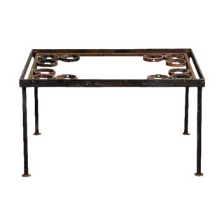 Wrought Iron Coffee Table With Spherical Details
