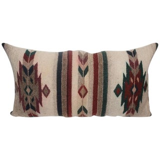 Geometric Navajo Indian Weaving Pillow