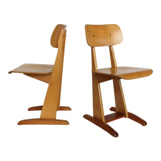 1950s Bauhaus German Sled School Chairs by Karl Nothelfer