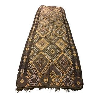 Vintage Anatolian Kars Kilim Rug - 4′8″ × 14′8″