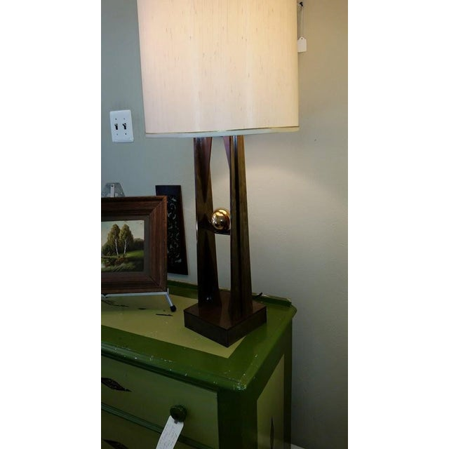 Atomic Era Lucite Lamp Base - Image 2 of 3