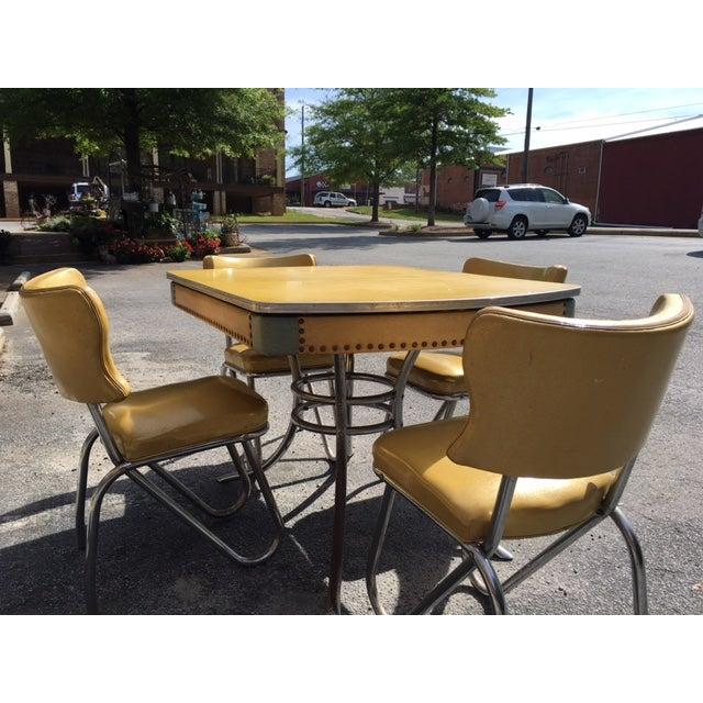 Kitchen Table And Chairs Ireland: Howell Chrome Mid-Century Dinette Set 1950's