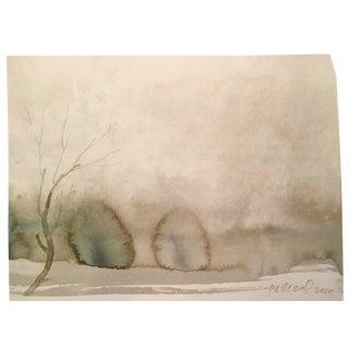 """Winter Plain"" Watercolor Painting"
