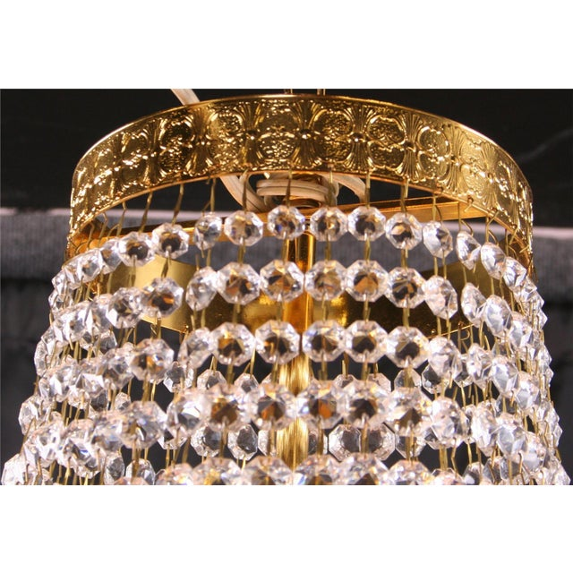 Italian Cut Glass Empire Napoleon Style Chandelier - Image 5 of 6