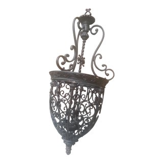 Franklin Iron Works French Scroll Chandelier