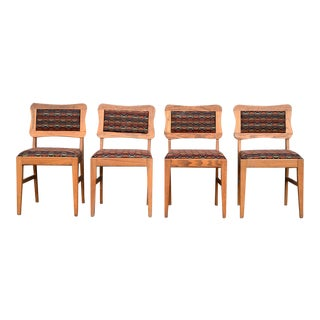Mid-Century Modern Dogbone Dining Chairs - Set of 4