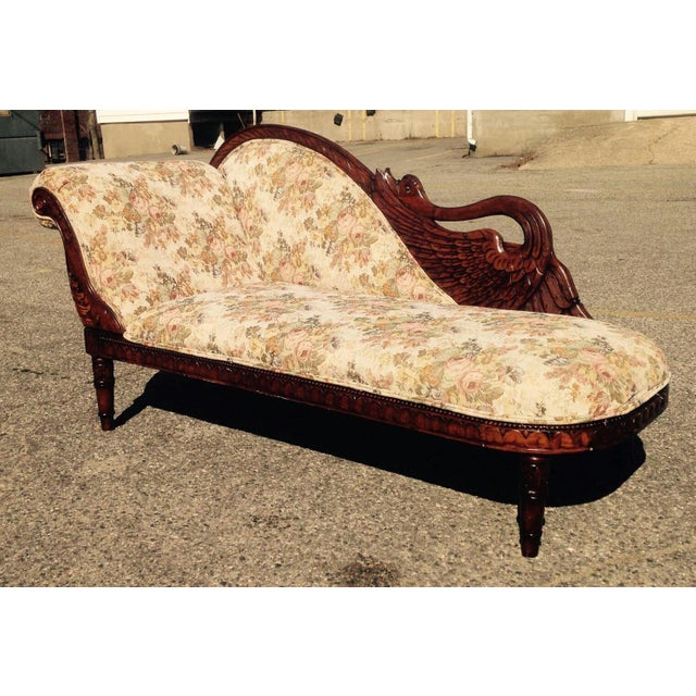 Image of Vintage Swan Chaise Lounge