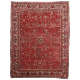 Hand-Knotted Persian Yazd Rug - 9′9″ × 12′10″