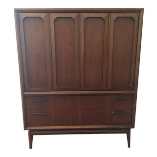 Mid-Century Modern Broyhill Premier Facet Collection Highboy