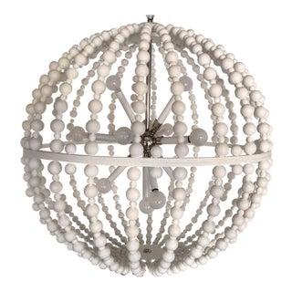 White Circular Modern Chandelier