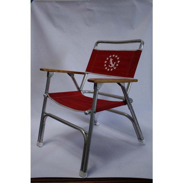 Vintage Nautical Crew Deck Chair - Image 2 of 8