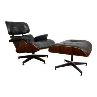Charles and Ray Eames for Herman Miller 670 & 671 Rosewood Lounge Chair - a Pair
