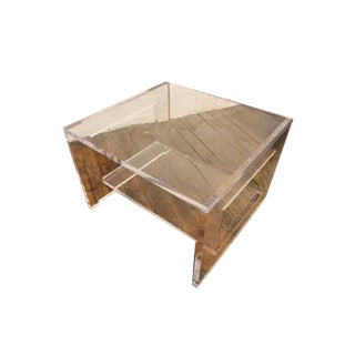 Clear Plexiglass Side Table