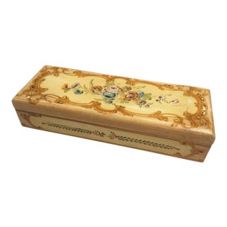 Yellow Floral Florentine Box