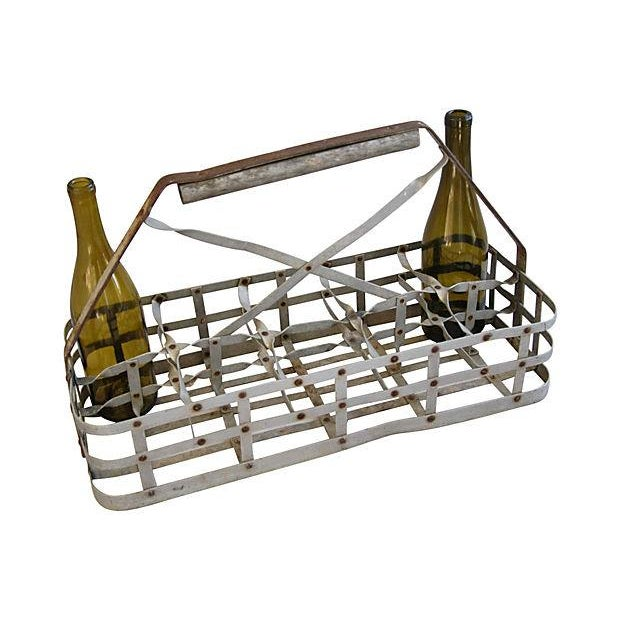 Antique French 10-Bottle Carrier - Image 5 of 5