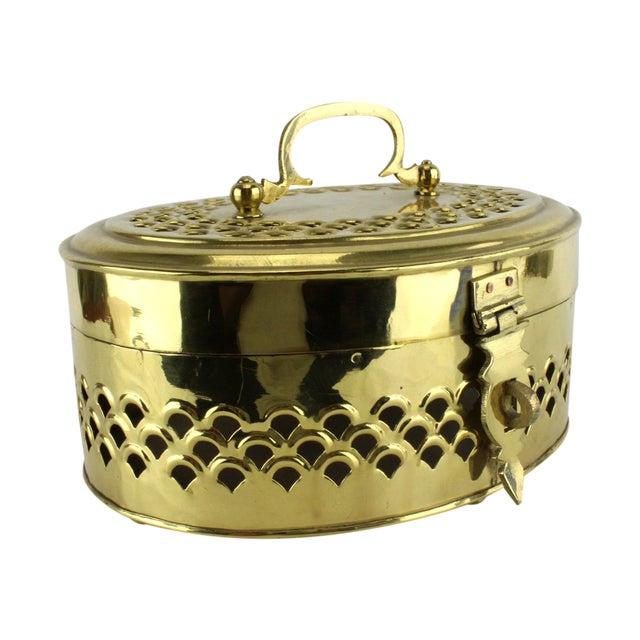 Image of Pierced Brass Cricket Box