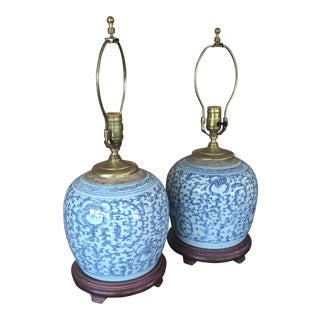 Chinese Ginger Jar Lamps - A Pair