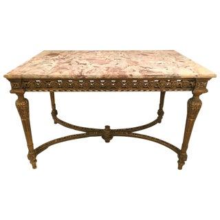 Maison Jansen Louis XVI Style Marble Centre Table