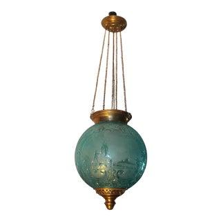 """Baccarat Paris"" Blue Crystal Hall Lantern - Documented Mma"