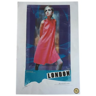 Iconic 1960's Twiggy Silkscreen,  Artists Proof