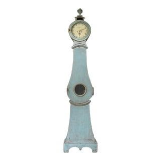 Blue Mora Clock with carved urn (#11-32)