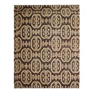 "Hand Knotted Ikat Rug by Aara Rugs Inc. 10'2"" X 14'3"""