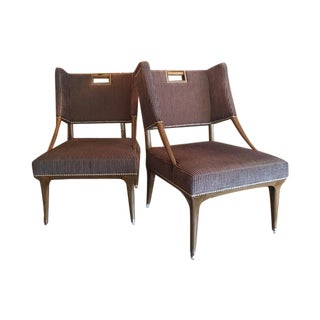 Mid-Century Holland and Sherry Chairs - A Pair
