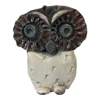 Mid-Century Ceramic Owl Sculpture