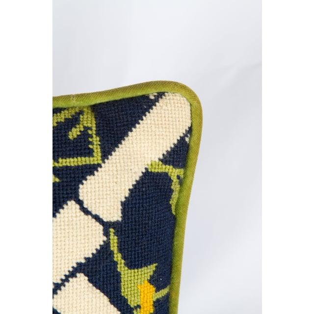 Needlepoint Trellis Throw Pillow - Image 4 of 4