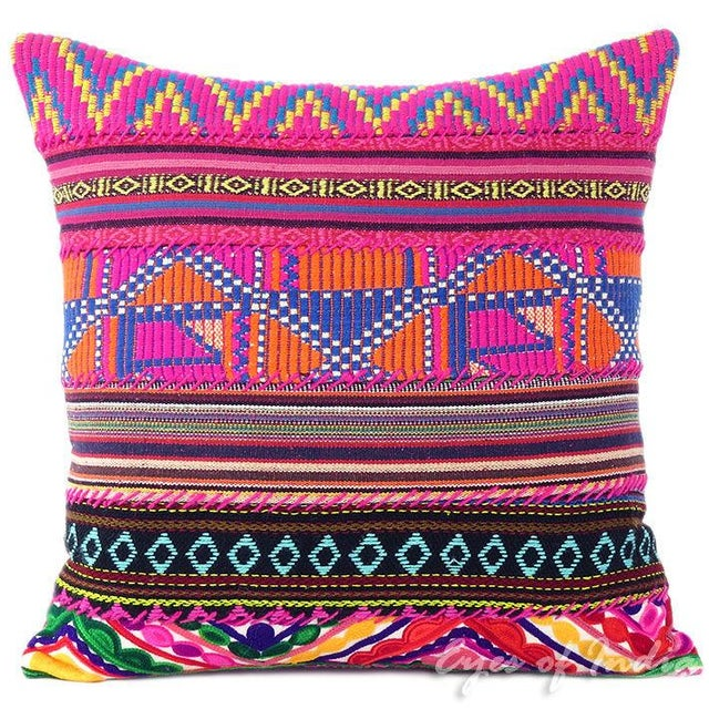 Pink Dhurried Throw Pillow - Image 1 of 2