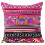 Image of Pink Dhurried Throw Pillow